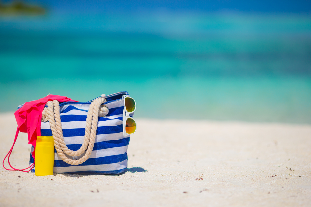 Bolsa expuesta a gérmenes en la playa